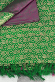 SIGNORAA GREEN BANARASI SILK SAREE-BSK07071 - Product View