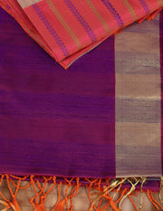 SIGNORAA PURPLE KANCHIPURAM SOFT SILKS SAREE-KSL02464 - Product View
