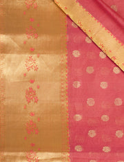 SIGNORAA PINK HANDLOOM SILK COTTON SAREE-CCC01145 - PRODUCT VIEW
