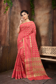 SIGNORAA PEACH DAILY WEAR SEMI TUSSAR SAREE-SASYN05871CC - View 1