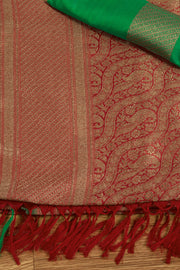 SIGNORAA RED BANARASI SILK SAREE-BSK06708 - Product View