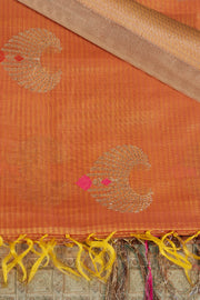SIGNORAA RUST BANARASI SILK COTTON SAREE-BSK07748 - Product View