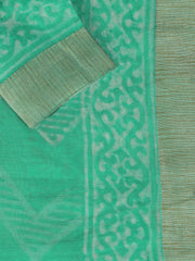 SIGNORAA SEA GREEN FANCY CHANDERI COTTON SAREE-FCT08644 - PRODUCT VIEW
