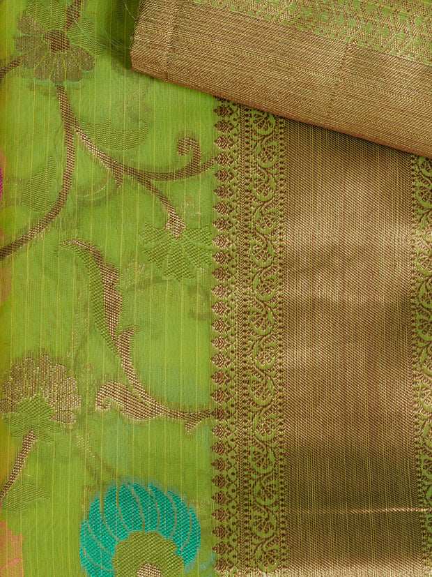 SIGNORAA GREEN SILK COTTON SAREE-CCC01459 - PRODUCT VIEW