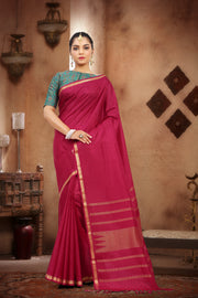 SIGNORAA MAROON KANCHIPURAM SOFT SILK SAREE-KSL02473 - View 1
