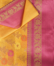 SIGNORAA YELLOW FANCY KOTA COTTON SAREE-FCT08696 - Product View