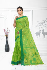 SIGNORAA GREEN KOTA SAREE-KTJ02945 - VIEW 1