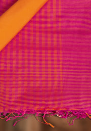 SIGNORAA RANI PINK CHANDERI COTTON SAREE-CCC01461 - PRODUCT VIEW