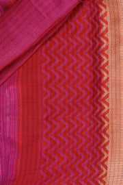 SIGNORAA PEACH BANARASI TUSSAR SILK SAREE-BSK07567- Product View