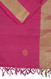 SIGNORAA RANI PINK FANCY JUTE COTTON SAREE-FCT08623 - Product View