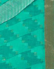 SIGNORAA TURQUOISE BLUE GEORGETTE SILK SAREE-CHG03464 - PRODUCT VIEW