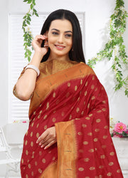 SIGNORAA RED PAITHANI SILK SAREE-PTN00117 -VIEW 2