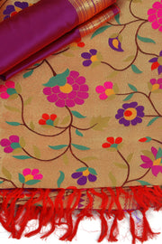 SIGNORAA MAGENTA PAITHANI SEMI SILK SAREE-PTN00123 - PRODUCT VIEW