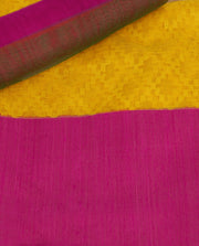 SIGNORAA YELLOW BANARASI JUTE NET SAREE-BSK04811 - Product View