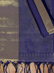 SIGNORAA ROYAL BLUE KANCHIPURAM SOFT SILK SAREE-KSL02483-Product View