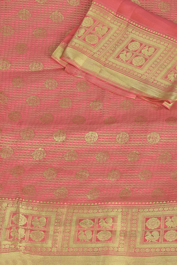 SIGNORAA PINK CREPE SILK SAREE-CHG03502 - PRODUCT VIEW