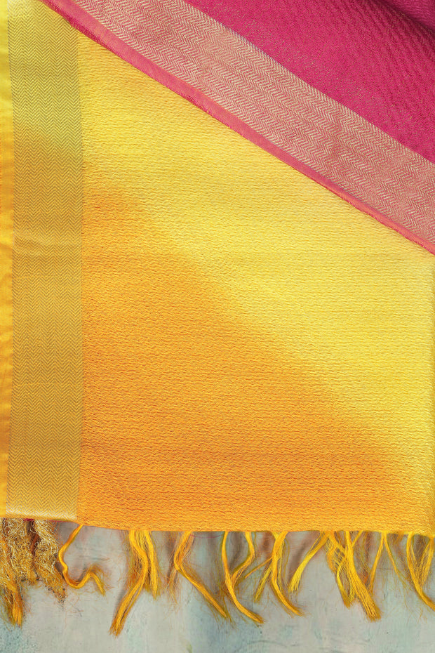 SIGNORAA MULTICOLOURED DAILY WEAR SEMI TUSSAR SAREE-SASYN05936 - Product View