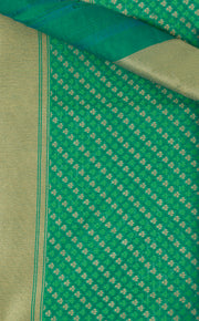 SIGNORAA GREEN BANARASI SILK COTTON SAREE-BSK07902 - Product View