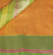 SIGNORAA ORANGE BANARASI TUSSAR SILK SAREE-BSK07074 - Product View