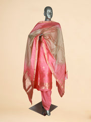 Signoraa Pink Linen Unstitched Salwar Suit-SMS08067 - View 1