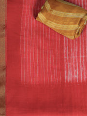 SIGNORAA RED FANCY CHANDERI COTTON SAREE-FCT08813 - PRODUCT VIEW