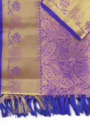 SIGNORAA PURPLE KANCHIPURAM SOFT SILK SAREE-KSL02470 - Product View