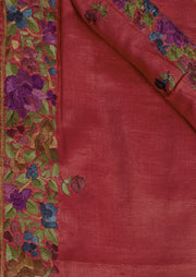 SIGNORAA RED TUSSAR SILK SAREE-EMB02840 -PRODUCT VIEW
