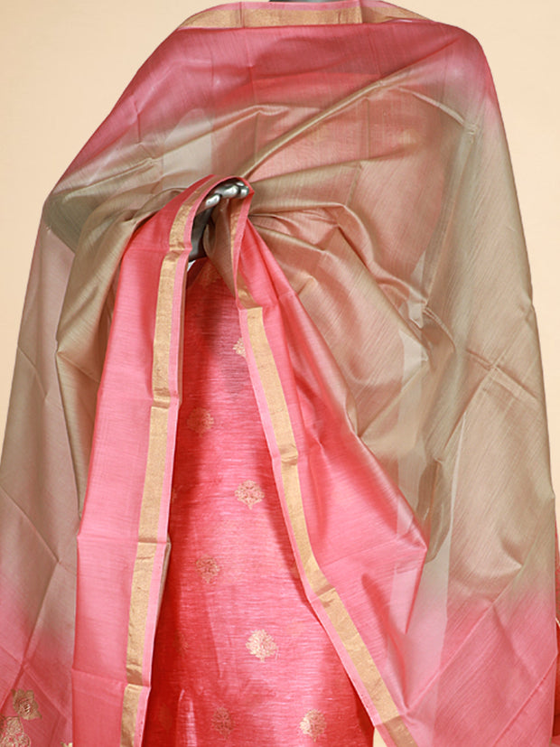 Signoraa Pink Linen Unstitched Salwar Suit-SMS08067- View 2