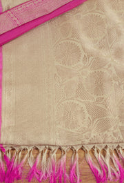 Signoraa Cream Banarasi Silk Saree-BSK07124