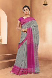 SIGNORAA OFF-WHITE FANCY COTTON SAREE-FCT08622 - View 1