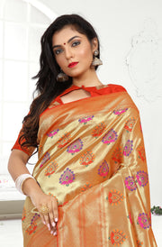 SIGNORAA RED PAITHANI SEMI SILK SAREE-PTN00131 - VIEW 2