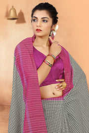 SIGNORAA OFF-WHITE FANCY COTTON SAREE-FCT08622 - View 2