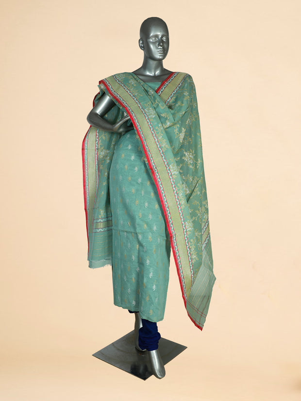 Signoraa Light Green Special Cotton Unstitched Salwar Suit-SMS08077- View 1