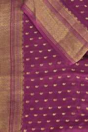 SIGNORAA MAGENTA CREPE SILK SAREE-CRP00825 - PRODUCT VIEW