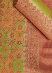SIGNORAA GREEN FANCY BANARAS COTTON SAREE-FCT08445 - Product View
