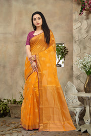 SIGNORAA ORANGE KOTA SAREE-KTJ03393 - VIEW 1