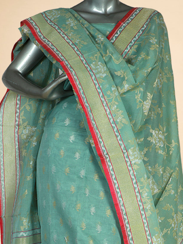 Signoraa Light Green Special Cotton Unstitched Salwar Suit-SMS08077- View 2