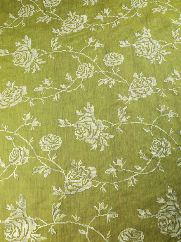 Signoraa Yellow Cotton Unstitched Fabric-PMT010887- View 3