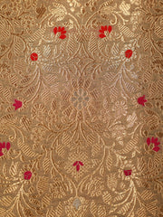 Signoraa Beige Banarasi Silk Unstitched Fabric-PMT010908 View 3