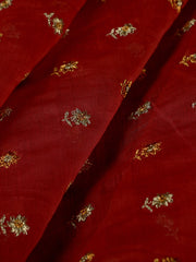 Signoraa Pink Chanderi  Unstitched Fabric-PMT010886 - View 1