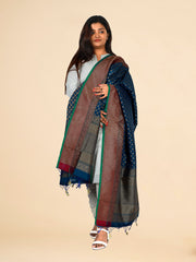 Signoraa Royal Blue Banarasi Silk Dupatta-PDU01167 A- View 1