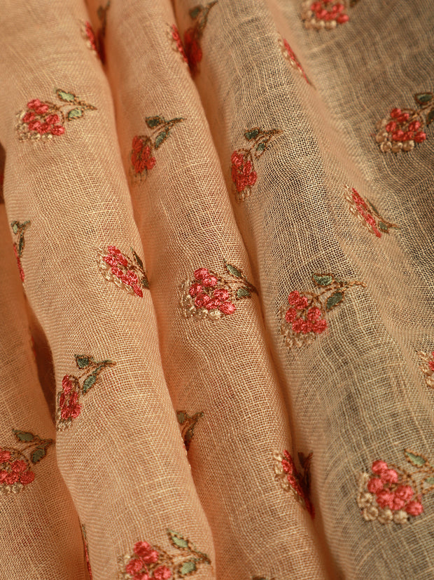 Signoraa Peach Linen Unstitched Fabric-PMT010806- View 1