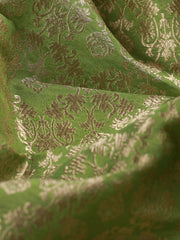 Signoraa Green Banarasi Silk Unstitched Fabric-PMT011604 - View 2