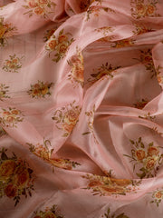 Signoraa Pink Organza Unstitched Fabric-PMT010934-View 2