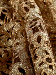 Signoraa Gold Cutwork Unstitched Fabric-PMT03969- View 1