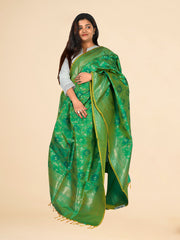 Signoraa Sea Green Banarasi Silk Dupatta-PDU01092- View 1