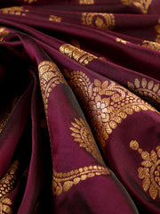 Signoraa Purple Banarasi Pure Silk Unstitched Fabric-PMT010039-View 1