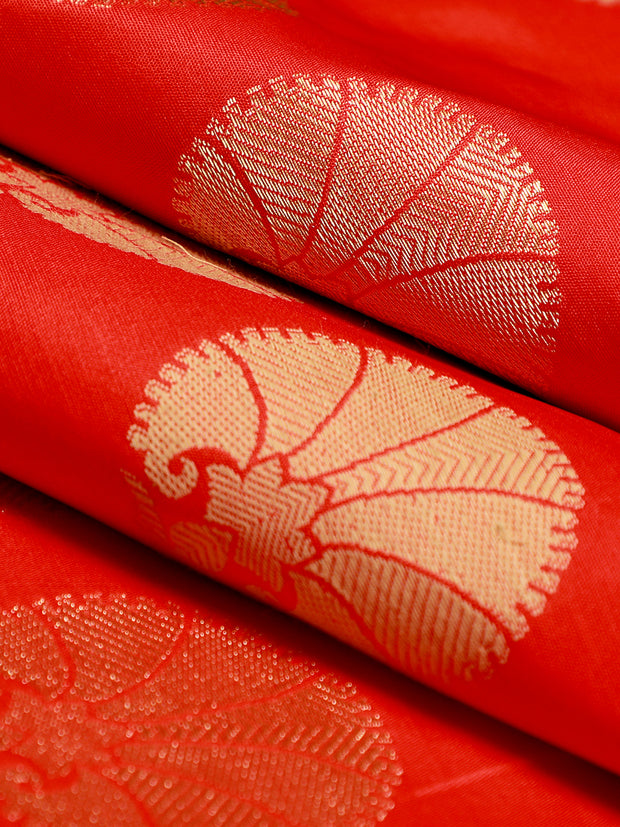 Signoraa Red Banarasi Pure Silk Unstitched Fabric-PMT10948-View 1
