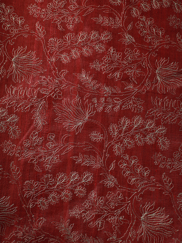 Signoraa Pink Tussar Silk Unstitched Fabric-PMT09951- View 2