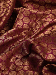 Signoraa Purple Banarasi Pure Silk Unstitched Fabric-PMT011037-View 2